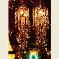 SILVER SPANGLE CHANDELIER - Junk GYpSy co.