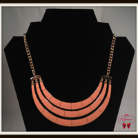 Coral Summer Lovin' U-Shaped Necklace