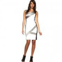 Bqueen Colourblock Dress White and Multi K058E - Designer Shoes|Bqueenshoes.com