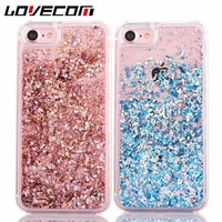 Lovecom Dynamic Liquid Glitter Colorful Paillette Sand Quicksand Hard Back Cover Phone Case For