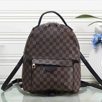 Louis Vuitton LV Fashion Leather Backpack Bookbag Shoulder Bag