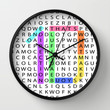 Wordsearch LOVE: What Makes You Beautiful Wall Clock by Alice Gosling