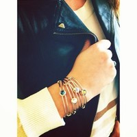 Khaki Healing Sacred Studs Bangle