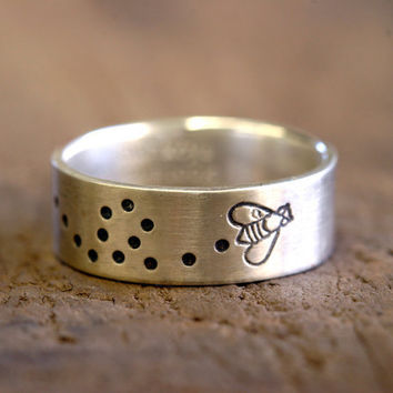 Sterling Silver Bumblebee Ring bumble bee by monkeysalwayslook
