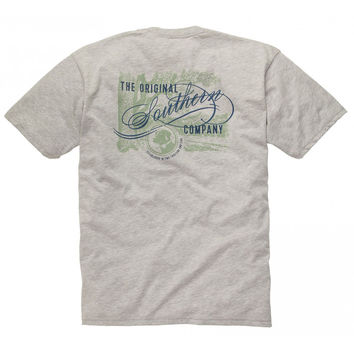 The Original Southern Company Tee Shirt in Light Heather Grey by Southern Proper