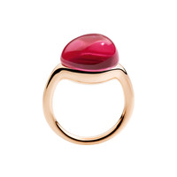 Rouge Rose Gold Ring - Ruby Ring - ShopBAZAAR