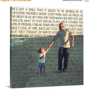 Black Friday SALE Things to do kids photos Words pictures on Canvas Art Custom Typography Gift for Parents 16x20 inches
