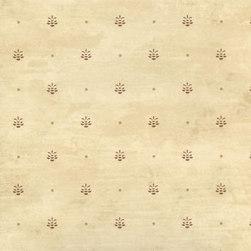 Brewster Wallpaper HTM49477 Polka Cream Pinecone Ditzy Toss