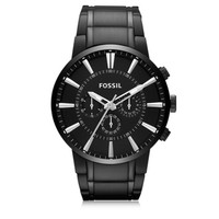 Fossil Designer Men's Watches Others Black Stainless Steel Men's Chronograph Watch