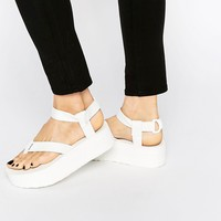 Teva Bright White Flatform Universal Sandals