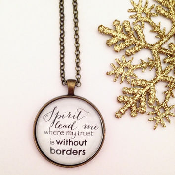 Hillsong Necklace, Hillsong Oceans, Christian Necklace, Quote Pendant, Quote Necklace, Holy Spirit, Lyrics Necklace, Hillsong Jewelry