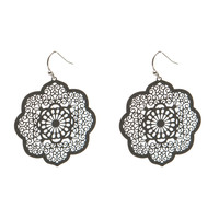 1.5in Window Filigree Drop Earring