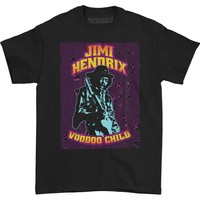 Jimi Hendrix Men's  Hendrix Black Light T-shirt Black