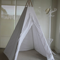 Larger Teepee in Whimsical Style - great as wedding photo prop, family teepee or indoor party accessory &