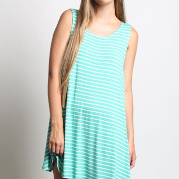 Sail Away Stripe Tank Dress