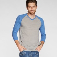 3/4 Sleeve V Neck-Moon Mist-Birds Of Paradise-S
