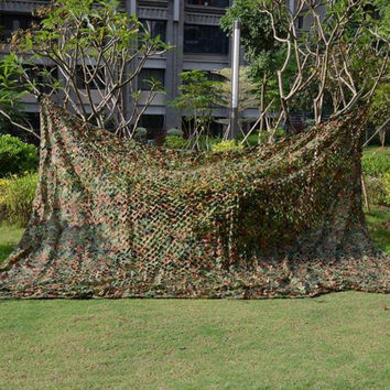New 2*4M Hunting Military Camouflage Net Woodland Army Camo netting Camping Sun Shelter Tent Shade sun shelter
