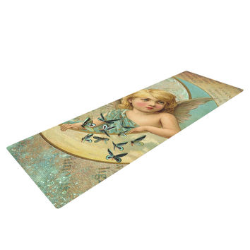 "Suzanne Carter ""Angel"" Teal Yellow Yoga Mat"