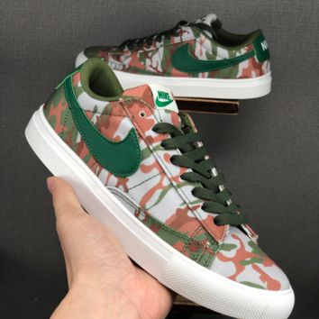 HCXX 19June 1117 NIKE BLAZER LOW Camouflage canvas Board shoes