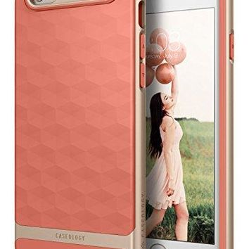 iPhone 6 Case, Caseology [Wavelength DIA] [Parallax Series] Textured Pattern Grip Case [Coral Pink] [Shock Proof] for Apple iPhone 6 (2014) - Coral Pink