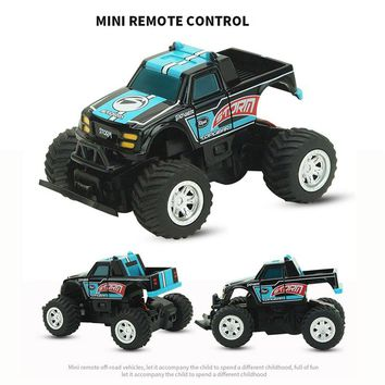 Remote Control Drive Speed Dirt Bike Vehicle Mini RC Car 4 ch Drift Speed Radio  1:58 4 Channels Shocks Racing Toy Car for Kids