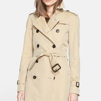 Women's Burberry London 'Westminster' Double Breasted Trench Coat