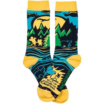 Shut Up And Take Me Camping Colorful Socks