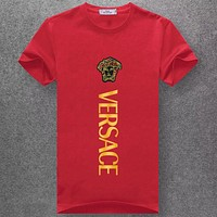 Boys & Men Versace Fashion Casual Short Sleeve Shirt Top Tee