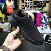 NIKE tanjun kaishi One Women Casual Sport Shoes Sneakers Full black