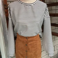 Black and White Striped Loose Sweatshirts