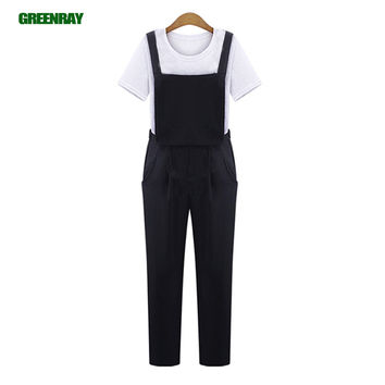 Women Black blue Pocket Jumpsuit Rompers Chiffon Dungarees Suspenders Overall Union Suit Playsuit bodysuit One Piece Hot Pants