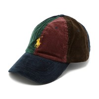 Multi Corduroy Color Block Polo Hat by Ralph Lauren
