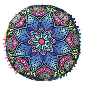Attractive  Durable Multifunctional Indian Mandala Floor Pillowcase Round Bohemian Cushion Chair Cuscino Divano Sierkussen