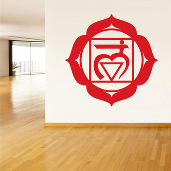 Wall Decal Vinyl Sticker Decals Root Chakra Indian Om (z1306)