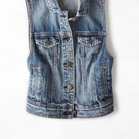 AEO Women's Denim Vest (Medium Rinse)