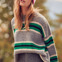 UO Oversized Striped Boyfriend Sweater | Urban Outfitters