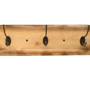 Reclaimed Wood Coat Rack - Rustic