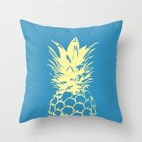 Unique Yellow Pineapple Design Throw Pillow by oursunnycdays