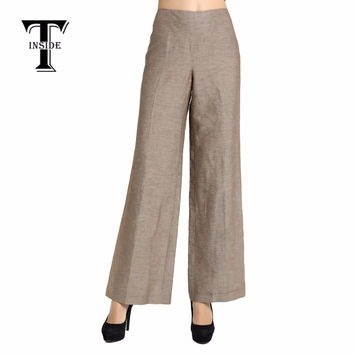 T-Inside 2016 New Hot Women's Fashion Elegant Loose Wide Leg Pants Trousers High Quality for Daily and Business