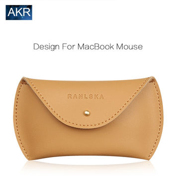 Leather Pouch Mouse Bag Sleeve Case for Macbook 2016 New Fashion