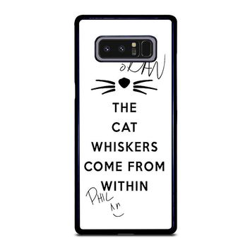 THE WHISKERS DAN AND PHIL Samsung Galaxy Note 8 Case Cover