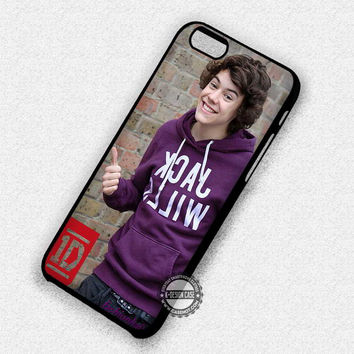 Cheerful Harry Styles - iPhone 7 6 Plus 5c 5s SE Cases & Covers