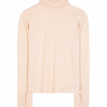 Wool, silk and cashmere turtleneck top