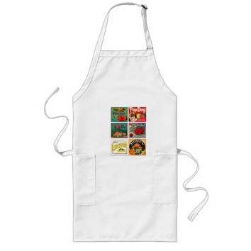 Vintage fruit advertisement apron