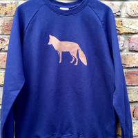 Fox Sweatshirt - mens, women's, low carbon, organic cotton, fairly traded