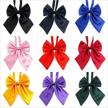 School Girl Uniform Bow Tie Students Cute Bowknot Necktie Adjustable YRD 12*17cm