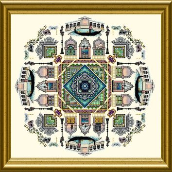 Chatelaine Designs The Venice Mandala Counted Cross Stitch Pattern