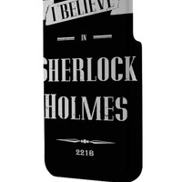 Best 3D Full Wrap Phone Case - Hard (PC) Cover with I Believe in Sherlock Holmes Design