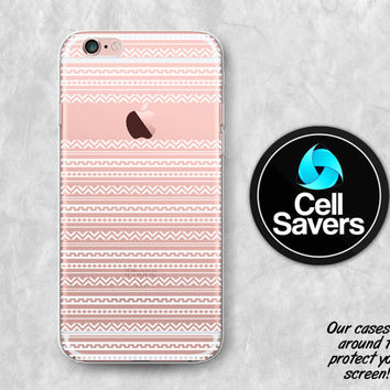 Tribal Pattern Clear iPhone 6s Case iPhone 6 Case iPhone 6 Plus Case iPhone 6s Plus iPhone 5c Case iPhone 5 Clear Case White Aztec Art Cute