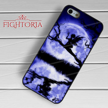 Fairy silhouette fascinating moon -s4rw for iPhone 6S case, iPhone 5s case, iPhone 6 case, iPhone 4S, Samsung S6 Edge